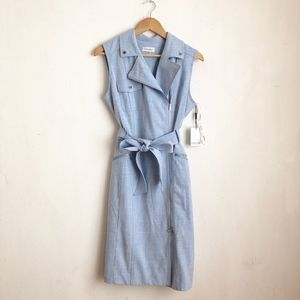 Calvin Klein midi dress blue denim style duster-8